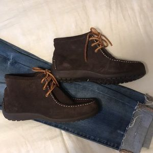 🍁 Chocolate Brown Suede Land's End Shoe Booties